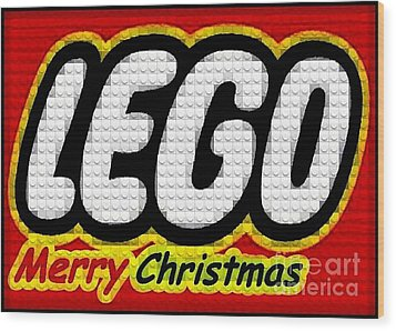 Lego Merry Christmas  Wood Print by Scott Allison