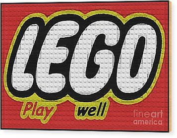 Lego Play Well Wood Print by Scott Allison