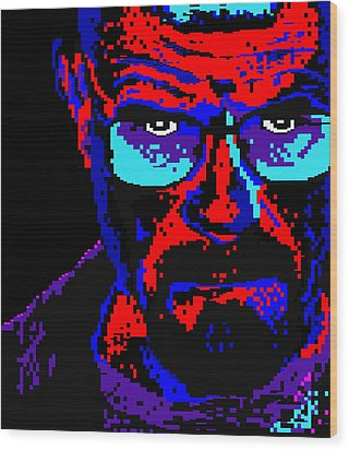 Wood Print featuring the digital art Lego Walter White by Marc Orphanos