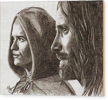 Legolas And Aragorn Wood Print by Maren Jeskanen