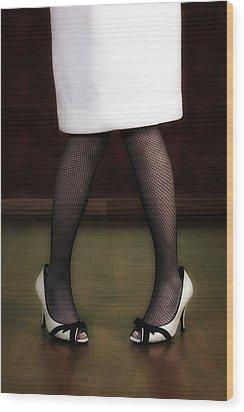 Legs And Shoes Wood Print by Joana Kruse