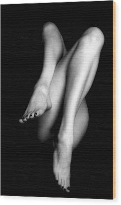 Legs Wood Print by Lindsay Garrett