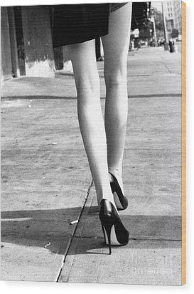 Legs New York Wood Print by Rebecca Harman