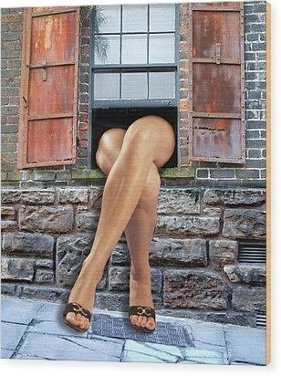 Wood Print featuring the digital art Legs by Nina Bradica