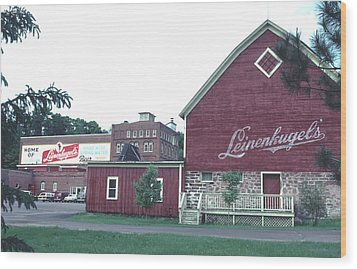 Wood Print featuring the photograph Leinenkugel Brewery Chippewa Falls Wi by Tom Wurl