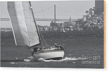 Leisure Sailor Wood Print
