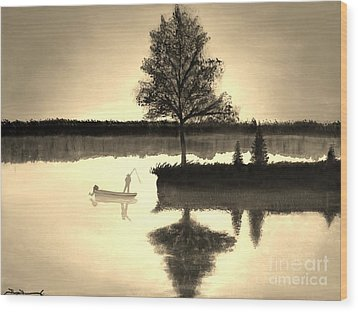 Leisure Time Wood Print by Tim Townsend
