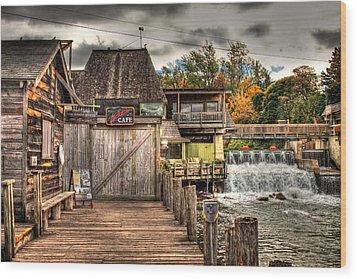 Leland Dock And Dam  Wood Print