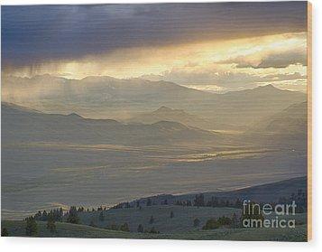 Lemhi Valley Light Wood Print by Idaho Scenic Images Linda Lantzy