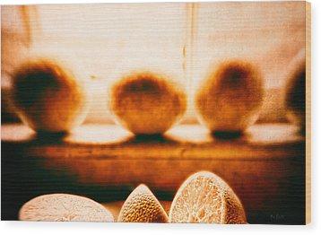 Lemon Among Oranges Wood Print by Bob Orsillo