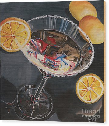 Lemon Drop Wood Print by Debbie DeWitt