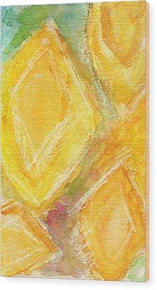 Lemon Drops Wood Print by Linda Woods