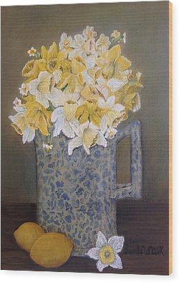 Lemon Jonquils Wood Print