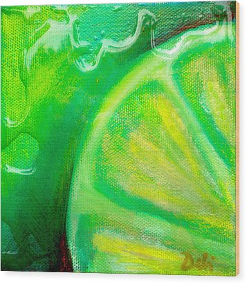 Lemon Lime Wood Print by Debi Starr