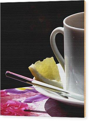 Lemon Please Wood Print by Angela Davies
