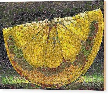 Lemon Slice Wood Print by Dragica  Micki Fortuna