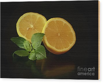 Lemon Splendor Wood Print by Inspired Nature Photography Fine Art Photography