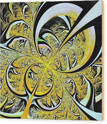 Lemon Twist Wood Print by Anastasiya Malakhova