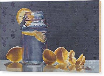 Lemonade Wood Print by Arlene Steinberg