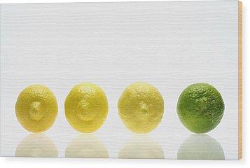 Lemons And Lime Wood Print by Kelly Redinger