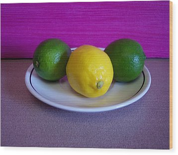 Wood Print featuring the photograph Lemons And Limes by Melvin Turner
