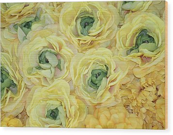 Lemons And Limes Wood Print by Patrisha Gill