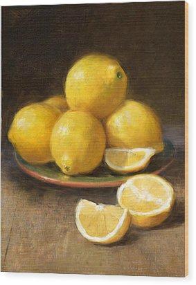 Lemons Wood Print by Robert Papp