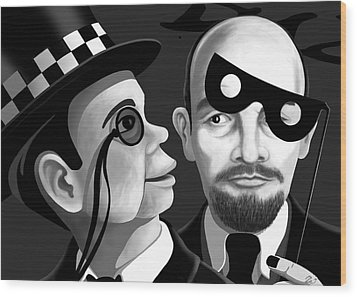 Wood Print featuring the digital art Lenin And Mccarthy   by Tom Dickson