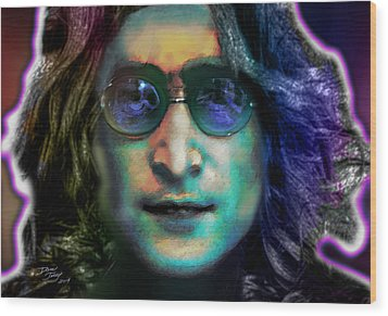 Haunting Lennon  Wood Print by Dan Terry