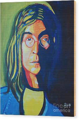 Lennon Wood Print by Justin Lee Williams