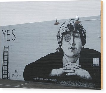 Lennon Portrait Wood Print by Nathan Rupert