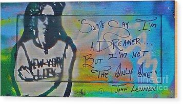 Lennon The Dreamer Wood Print by Tony B Conscious
