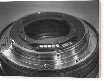 Lens Wood Print by Chris Babcock