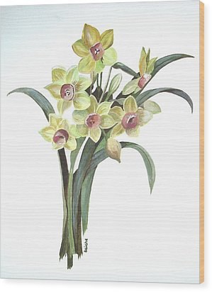 Lent Lily Wood Print by Tracey Harrington-Simpson
