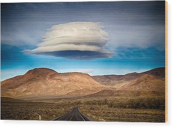 Lenticular Cloud Ft. Churchill State Park Nevada Wood Print