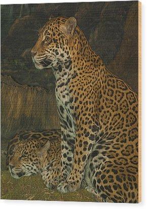 Leo And Friend Wood Print by Jack Zulli