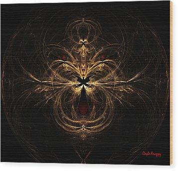 Leo Wood Print by Coqle Aragrev
