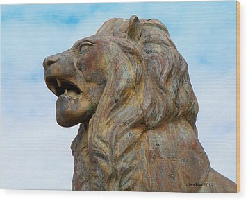Wood Print featuring the photograph LEO by Dick Botkin