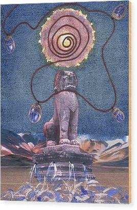 Leo Wood Print by Maria Jesus Hernandez