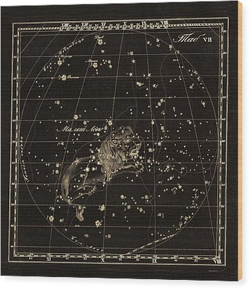 Leo Minor Constellation, 1829 Wood Print by Science Photo Library