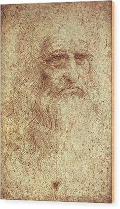 Leonardo Da Vinci 1452-1519 Wood Print by Everett