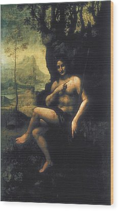 Leonardo Da Vinci, School Of First Half Wood Print by Everett