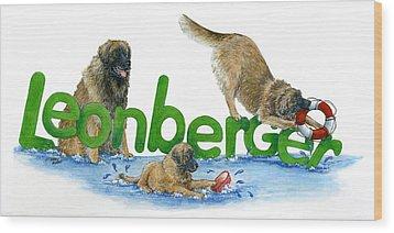 Leonberger Wood Print