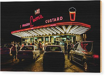 Leon's Frozen Custard Wood Print by Scott Norris