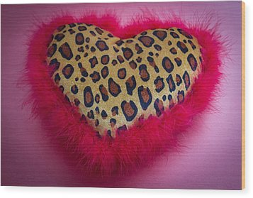 Wood Print featuring the photograph Leopard Heart by Patrice Zinck
