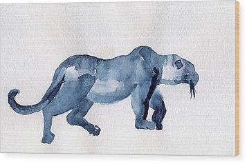 Leopard Wood Print by Lelia Sorokina