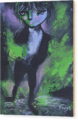 Leprechaun Wood Print by Donna Blackhall