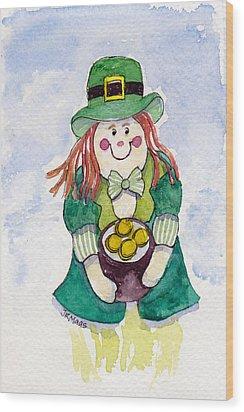 Leprechaun Lassie Wood Print