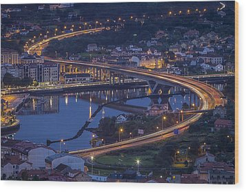 Wood Print featuring the photograph Lerez River Pontevedra Galicia Spain by Pablo Avanzini