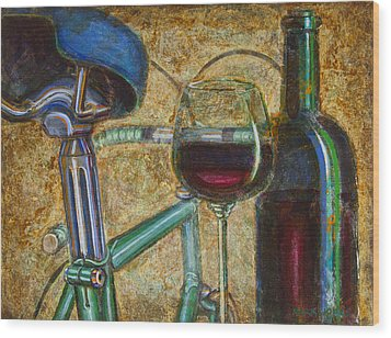 L'eroica Bianchi Chianti Wood Print by Mark Jones